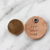 Custom Round Leather Tag 2