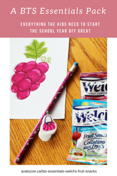 Welch's Fruit Snacks A BTS Essentials Pack *Printable & Video* 6