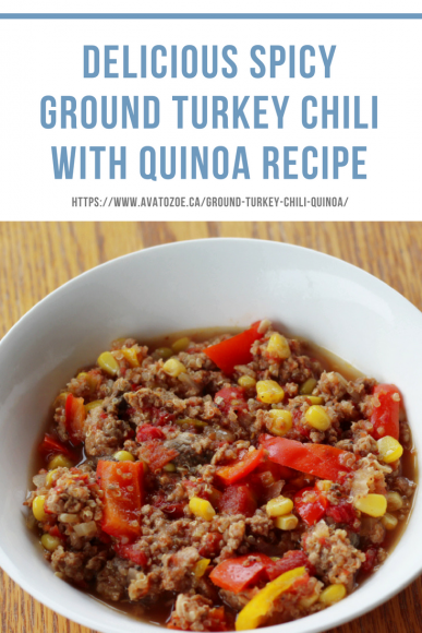 Delicious Spicy Ground Turkey Chili with Quinoa Recipe 3