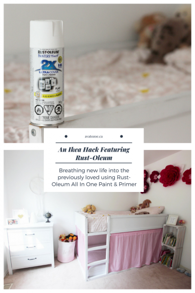 A Bedroom MakeOver For Zoe Ft: Ikea Kura Bed & Rust-Oleum! 11
