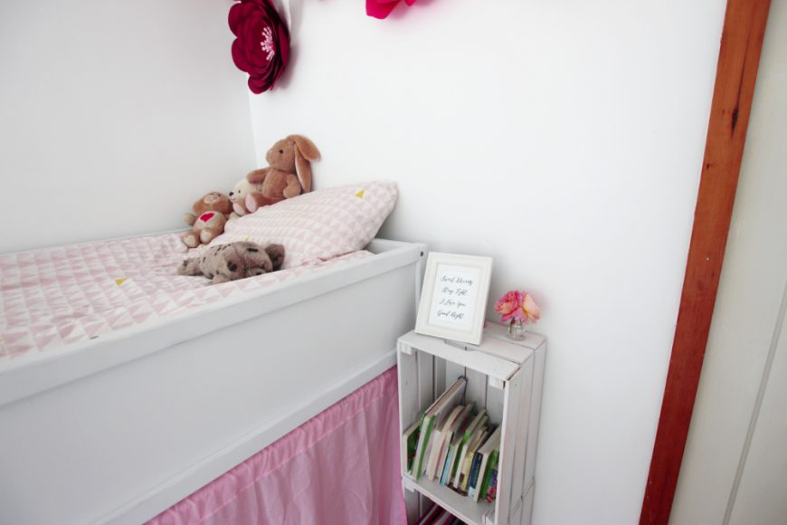 A Bedroom MakeOver For Zoe Ft: Ikea Kura Bed & Rust-Oleum! 8
